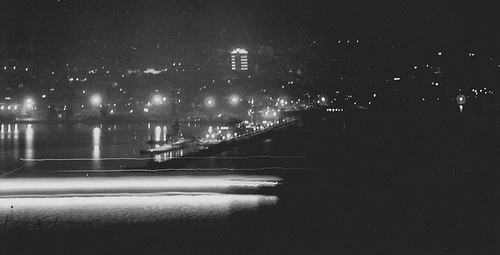 longexposure sea film night blackwhite ship view jupiter praktica varna orwonp15