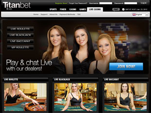 Titan Bet Live Casino Home