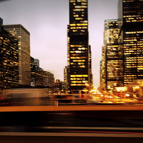 #city in #motion...#driveby #citylights #lights #red #blur #skyline #chicago #igerschicago
