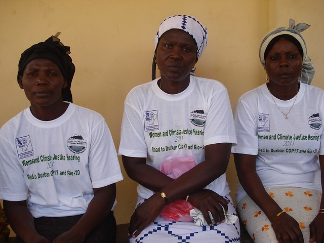 Mercy Hlordz (l), Akos Matsiador (centre) and Mary Azametsi (r) are all victims of climate change. Credit: Jamila Akweley Okertchiri/IPS