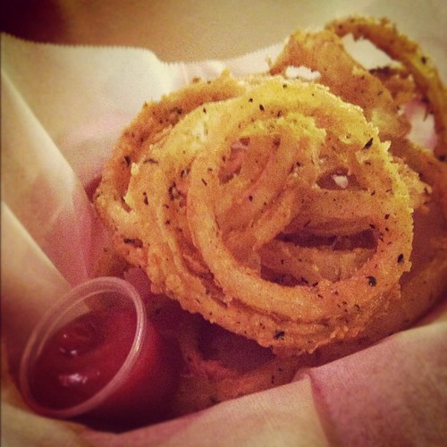 Onion rings at Soul Vegetarian.