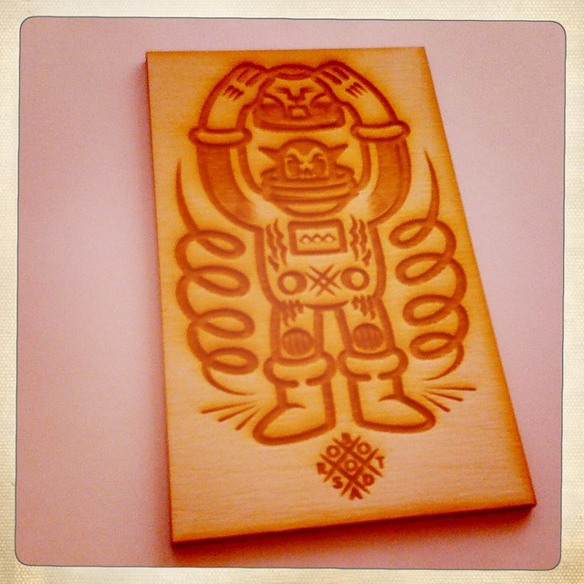 Robot Soda Laser cut wood b