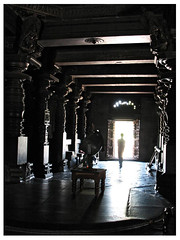 Inside the Halebid temple by Richa500