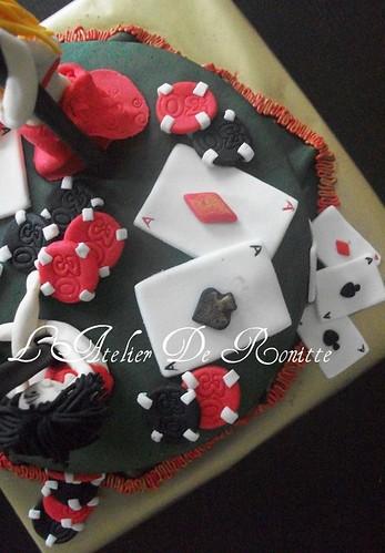 Poker ve striptizci kızlar temalı 30 yaş doğumgünü pastası by l'atelier de ronitte