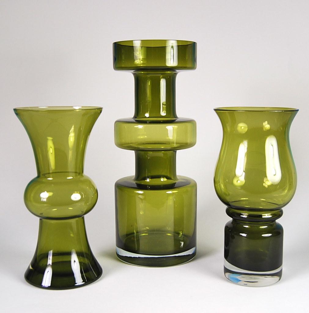 Riihimaen Lasi Oy   Riihimaki Glass Vases 1970s 11    cf17009348