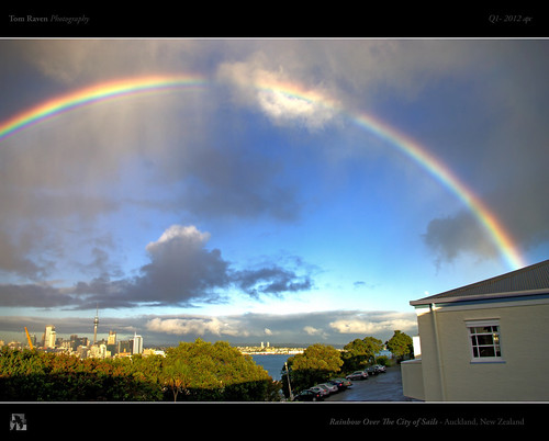 Rainbow Over The City of Sails by TomRaven