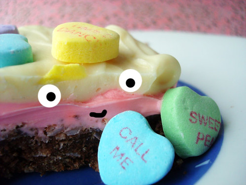 Conversation Heart Nanaimo Bars