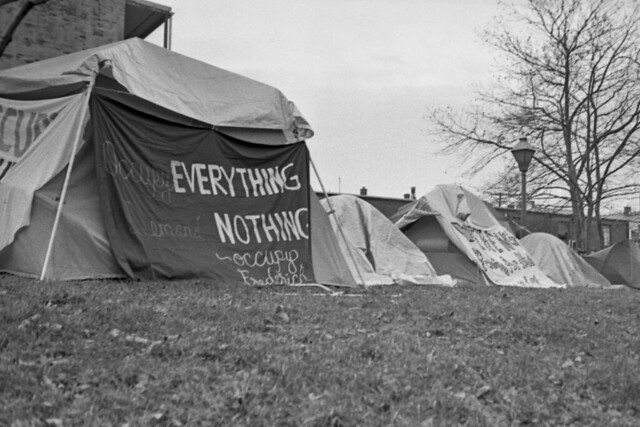 The occupy camp at Jarrel Gray Park