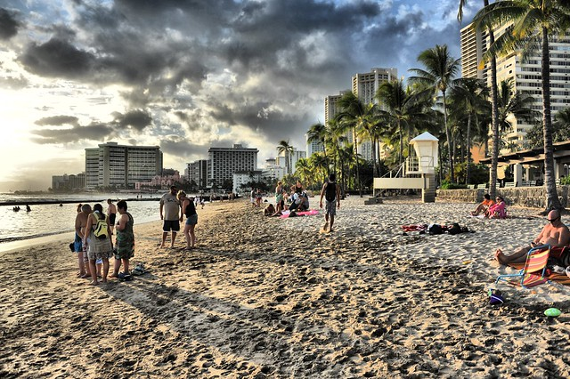 Sunday on Waikiki Beach