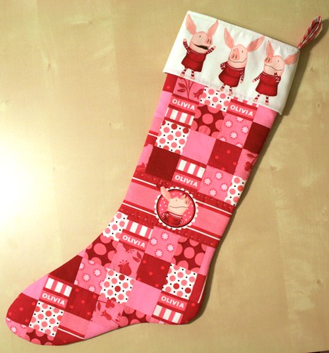 quilted stocking for Olivia