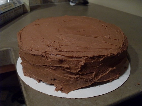 Chocolate Cake with Nutella Frosting