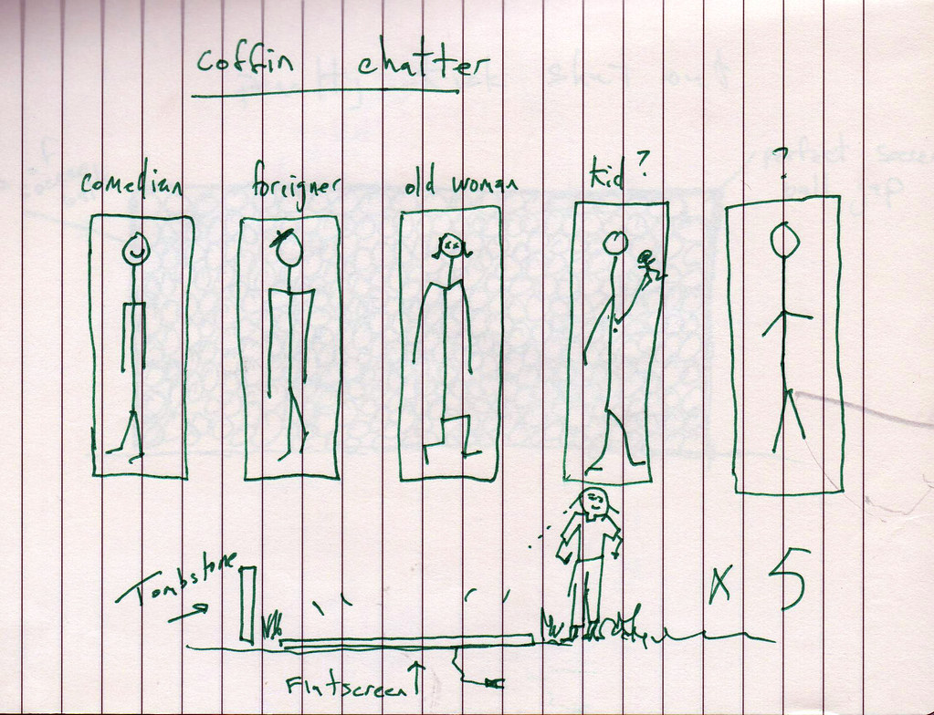 Original sketch for Coffin Chatter