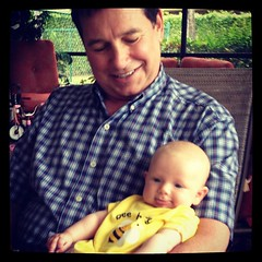 Uncle Jon with his grand god daughter.
