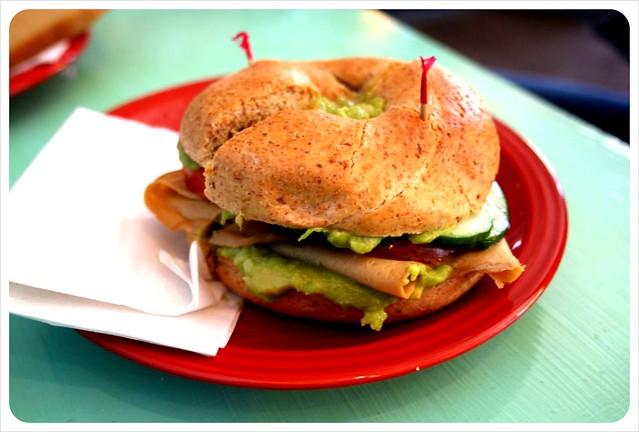 delicious cafe vegan meat bagel