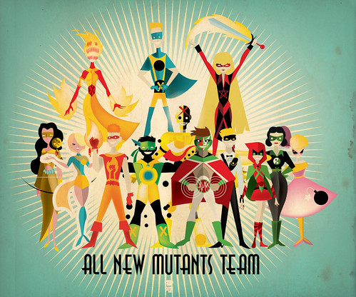 The New Mutants team retro50s by PO!!