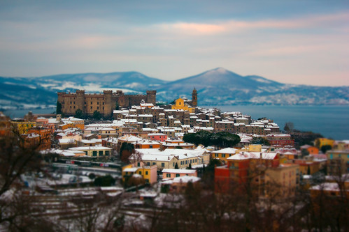 White snow in Bracciano by Devilnax