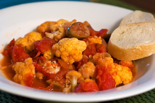 Cauliflower Puttanesca – The Kitchen Illiterate