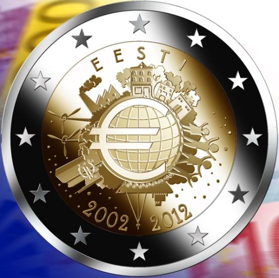 2 Euro Estónsko 2012, 10. výročie zavedenia Eura