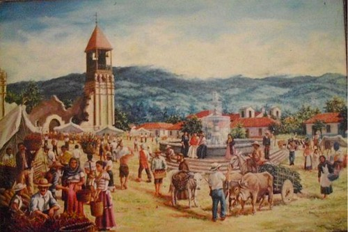 Braulio Vega-Pintura-Plaza Mayor Cartago by Reyleomessi