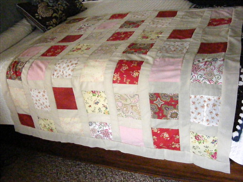 Quilt top before