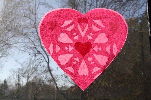 Pink and Red Heart Transparency