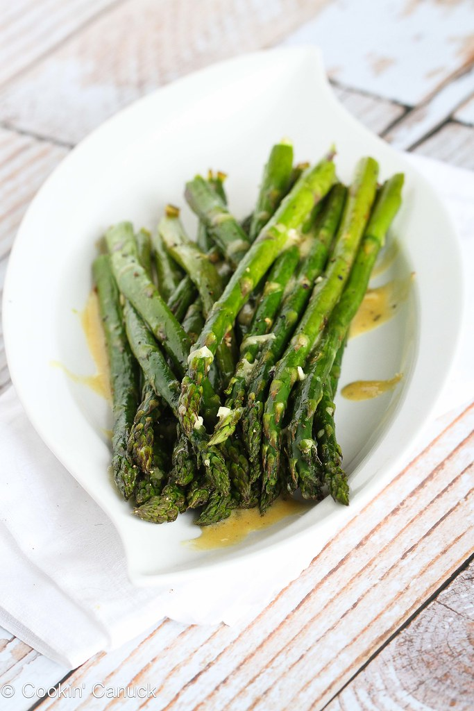 Roasted Asparagus Recipe w/ Dijon Vinaigrette Dressing | Cookin ...