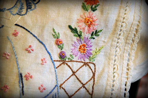 bullion knots and lazy daisies