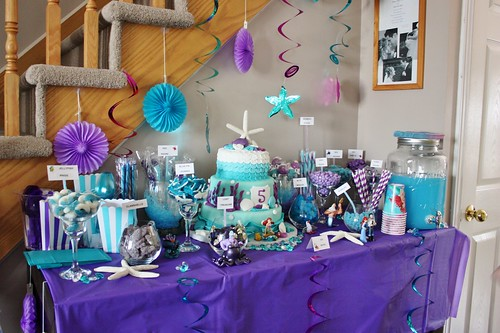 Under The Sea Candy Bar The Little Mermaid Birthday Party