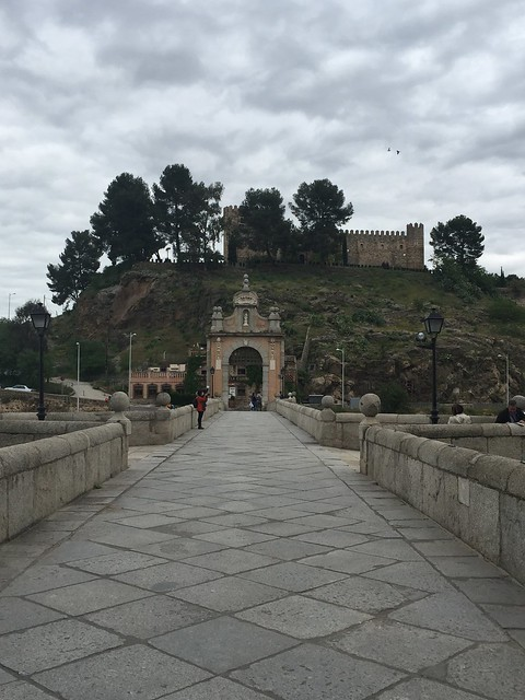The famous Alcantara bridge in Toledo, one of the most scenic spots on this Toledo itinerary
