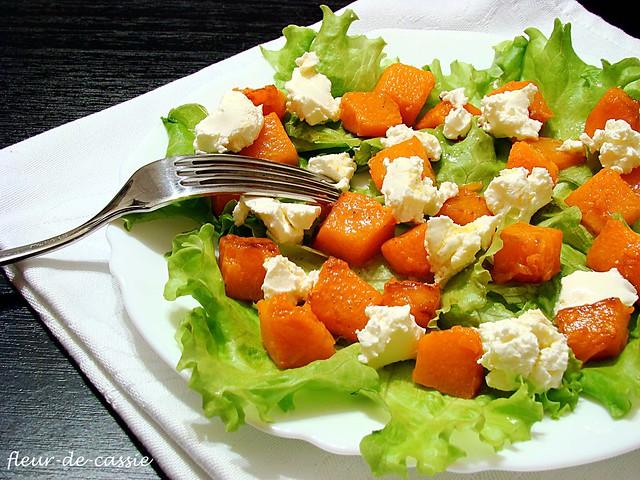салат с тыквой и козьим сыром 2