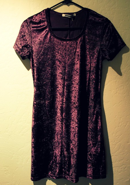 new bargin find 5.00 velvet mini dress