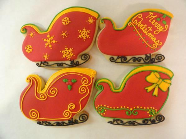 Santa S Sleigh Cookies Adda Boys Cookies Flickr