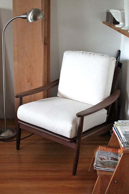 teak lounge armchair - after