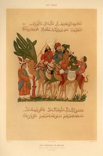 021-Una caravana en marcha siglo XIII-L'art arabe d'apres les monuments du Kaire…Vol 3-1877- Achille Prisse d'Avennes y otros.