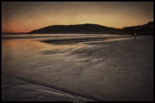 ocean california sunset art texture beach water pier sand nikon surf waves antique footprints avila onone d90 ©markpatton