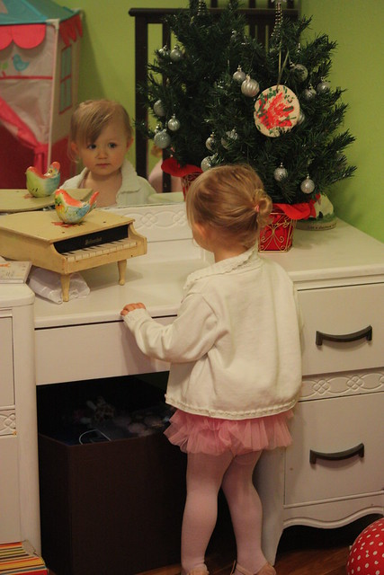 Looking in mirror ballerina cordelia