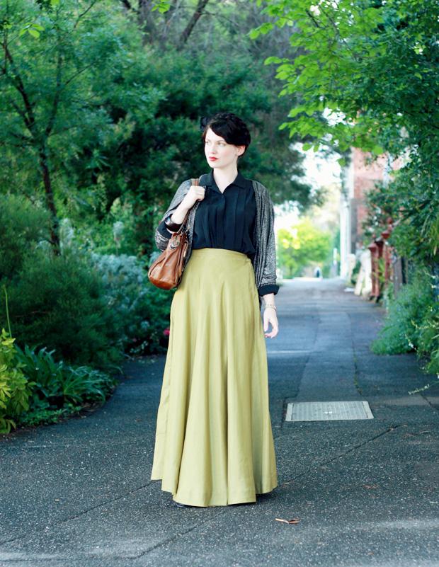 green skirt glitter d