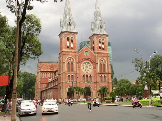 サイゴン大教会-ノートルダム大聖堂(Notre Dame Cathedral)/ベトナム、ホーチミン(Ho Chi Minh, Vietnam)