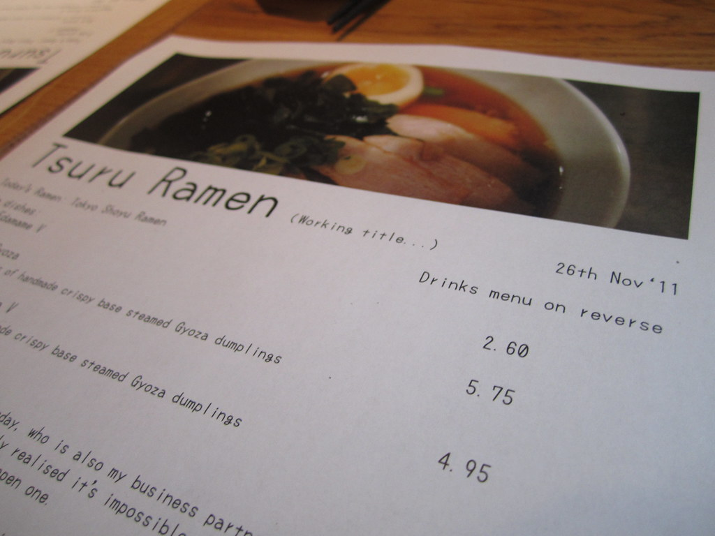 Slightly Peckish: Tsuru Ramen 3