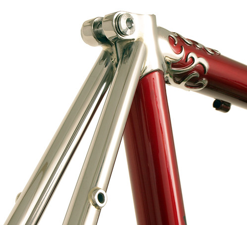 <p>Seat cluster with polished stays for Waterford Nuevo-Coco Custom Lug 60cm Frame, made of stainless steel with polished lugs and stays,  62389</p>