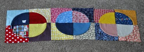 circle quilt progress