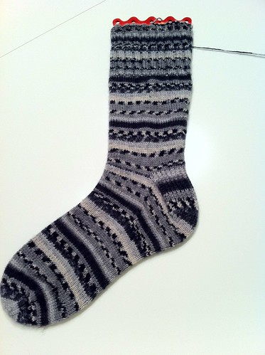 Grey sock #1 done