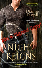December 6th 2011 by Zebra         Night Reigns (Immortal Guardians #2) by Dianne Duvall