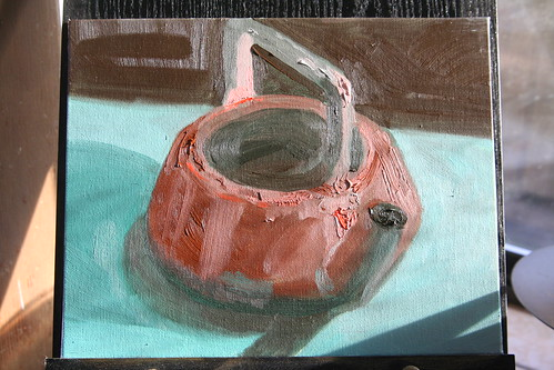 Copper Kettle Study 2: Viridian and Red Orange Only