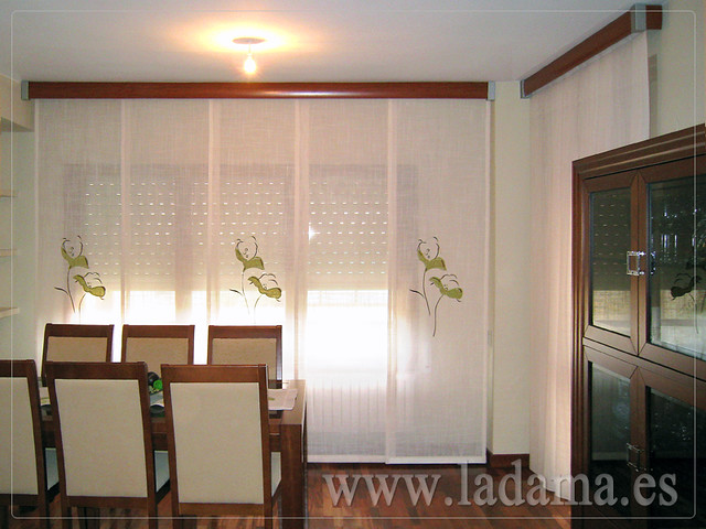 Decoraci n para salones cl sicos cortinas con dobles - Paneles chinos para salon ...