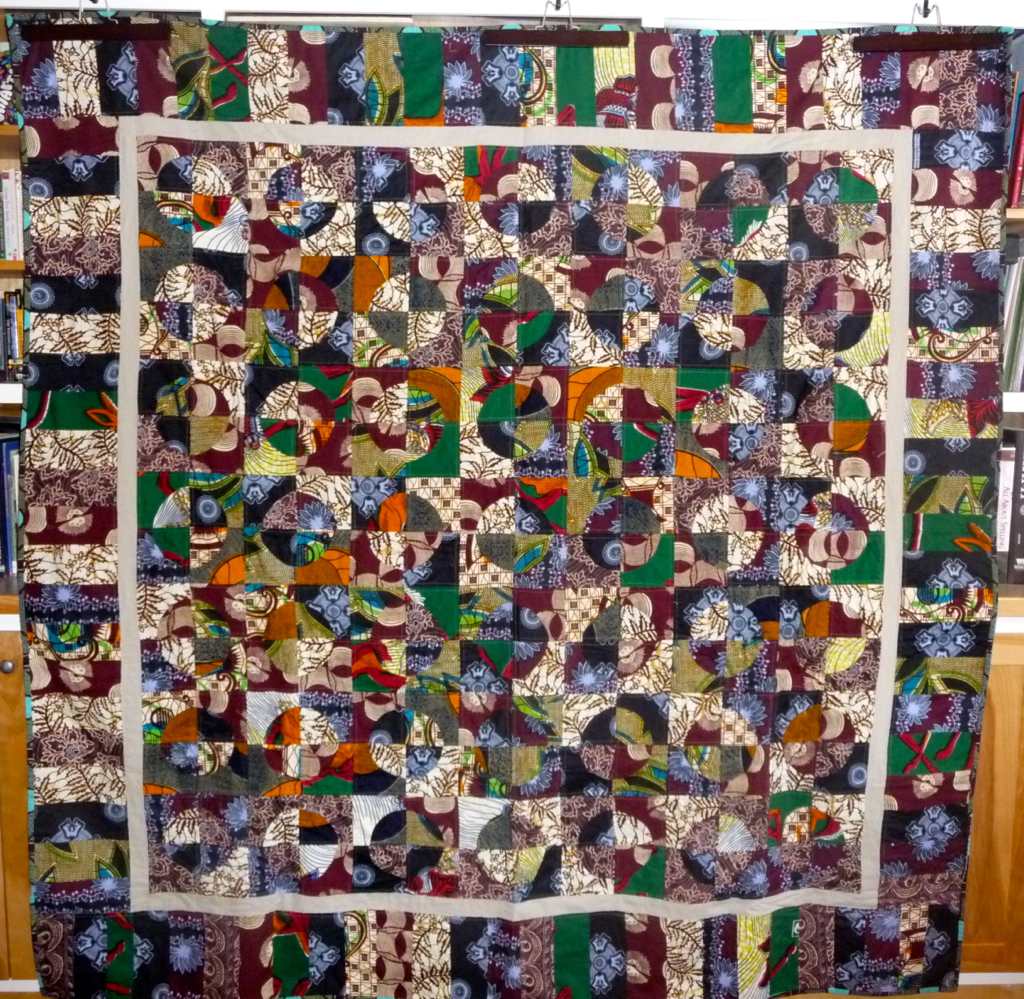 African Fabrics Circles Quilt