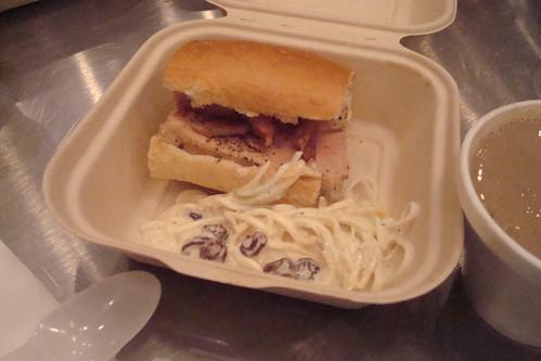 Foie gras terrine sandwich