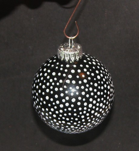 Polka Dot Enamel ornament 6