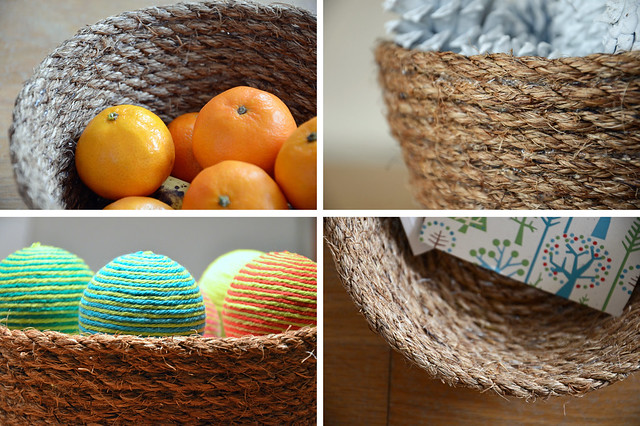 DIY rope bowl