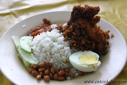 Nasi Lemak with Fried Chicken, Nasi Lemak Warong SInarNor